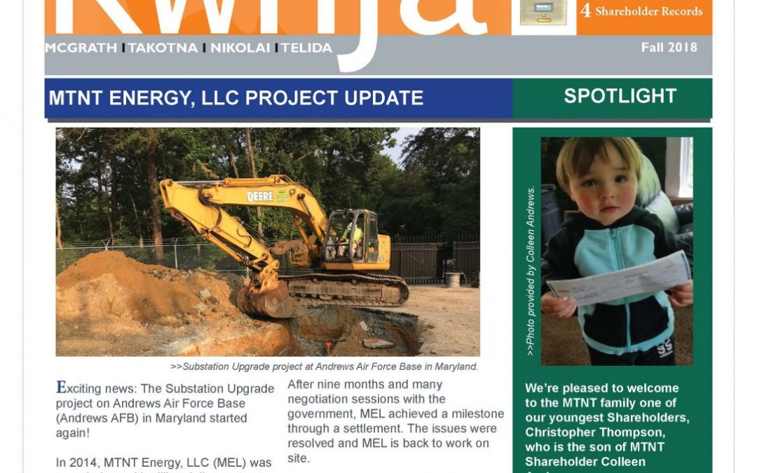 Fall 2018 KwnJa' Newsletter